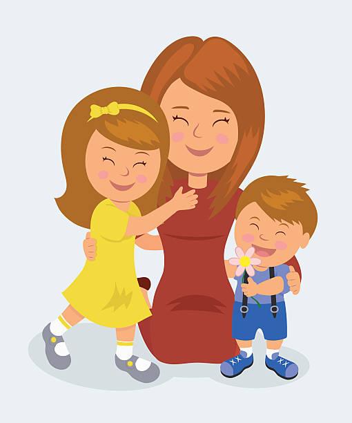 Royalty Free Mom Kneeling Clip Art, Vector Images ...