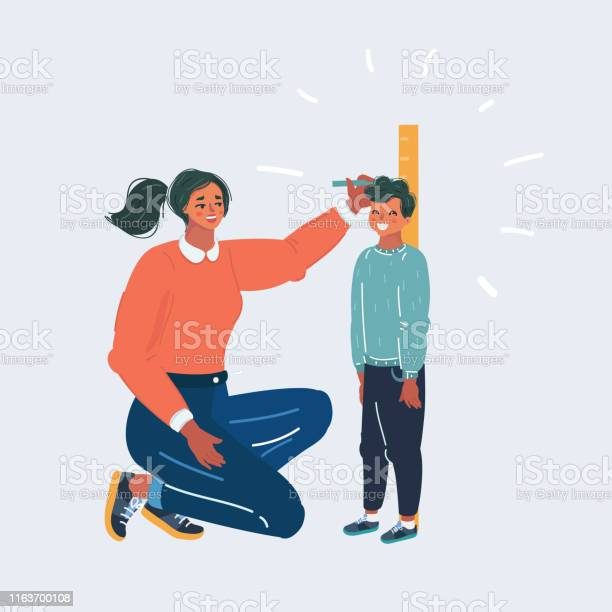Mother measuring her sons height against wall vector id1163700108?b=1&k=6&m=1163700108&s=612x612&h=pt9qxsrqdhyoy5mv o pwwfgdvmtol2gtfu7090apby=