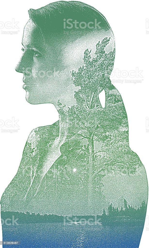 Mother Nature vector art illustration