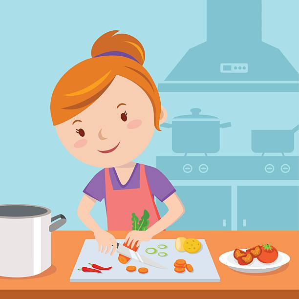 Best Kitchen Illustrations Royalty Free Vector Graphics: Best Mom Cooking Illustrations, Royalty-Free Vector