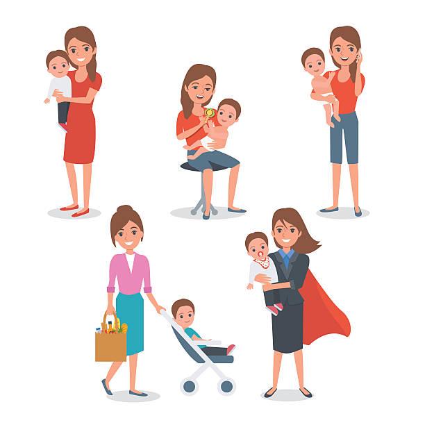 ilustrações de stock, clip art, desenhos animados e ícones de mãe - super baby