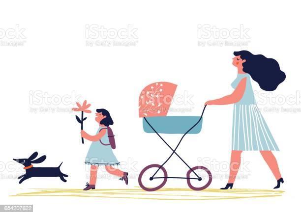 Mother walking with children vector id654207622?b=1&k=6&m=654207622&s=612x612&h=mfticwtdbk4aoaffjuptrf mfkdy6gkt5fhje6ylamo=