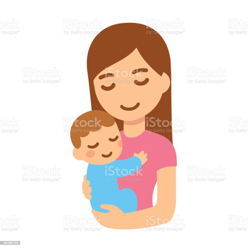 Mother with baby vector art illustration