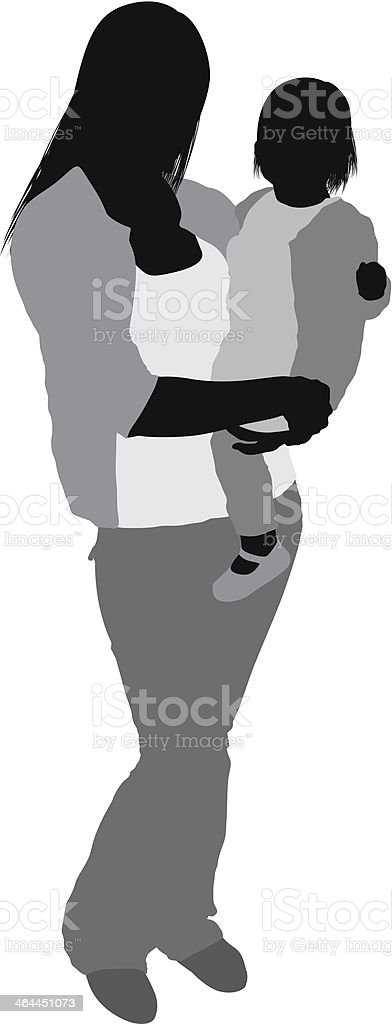 Mother with her baby royalty-free mother with her baby stock vector art & more images of adult