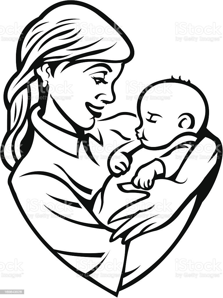 Mother with Infant Baby royalty-free stock vector art