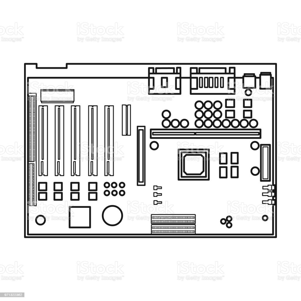 computer motherboard wiring diagram symbols