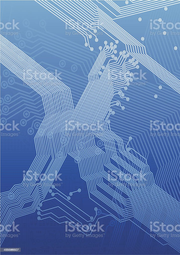 Motherboard royalty-free stock vector art