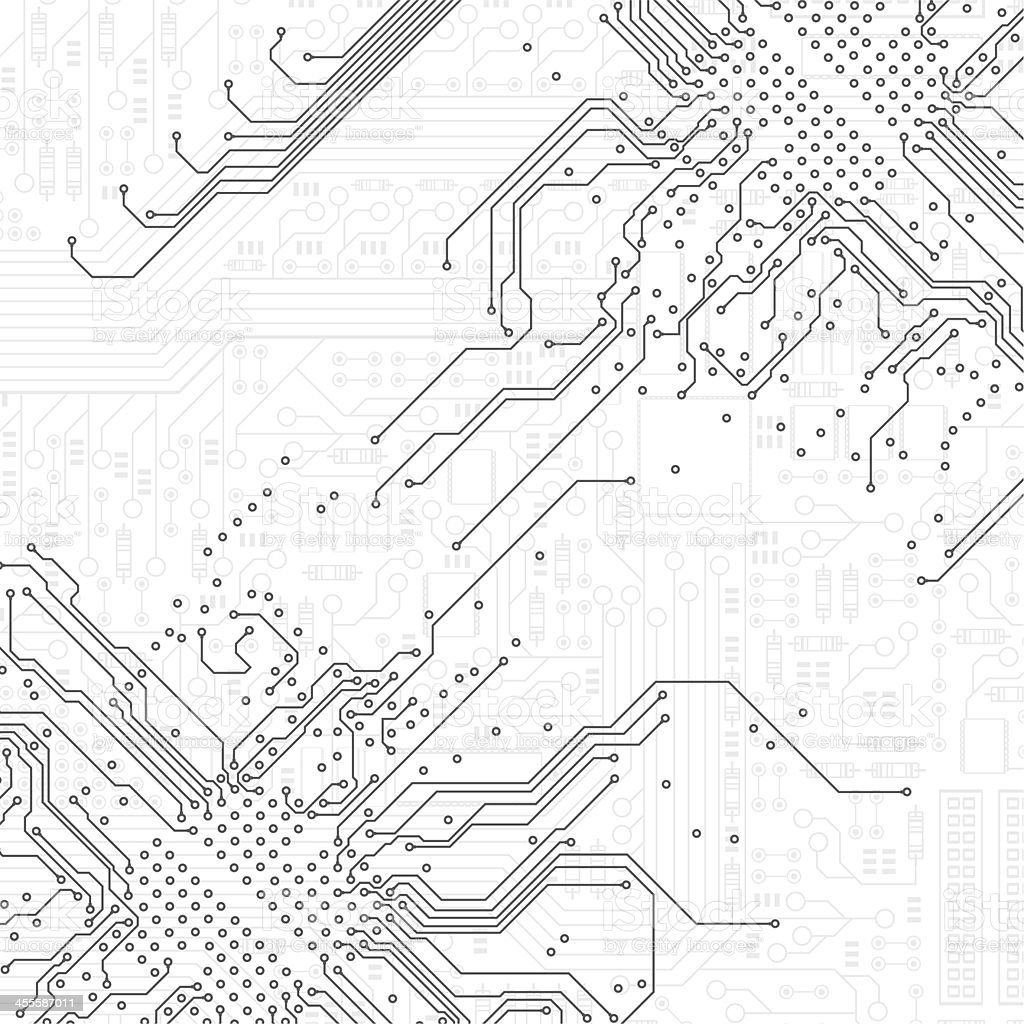 Motherboard royalty-free stock vector art