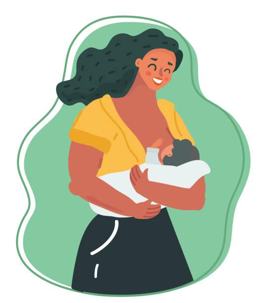 ilustrações de stock, clip art, desenhos animados e ícones de motherhood and lactation concept. - amamentação