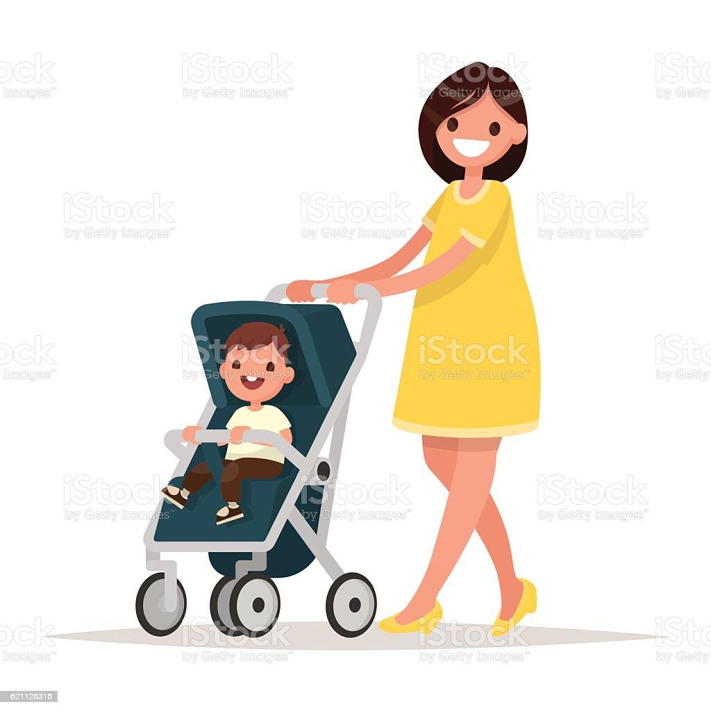 royalty free baby stroller clip art vector images illustrations rh istockphoto com stroller clipart running stroller clipart