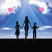 """This illustration is a background of the text for """"Mother's Day""""."""