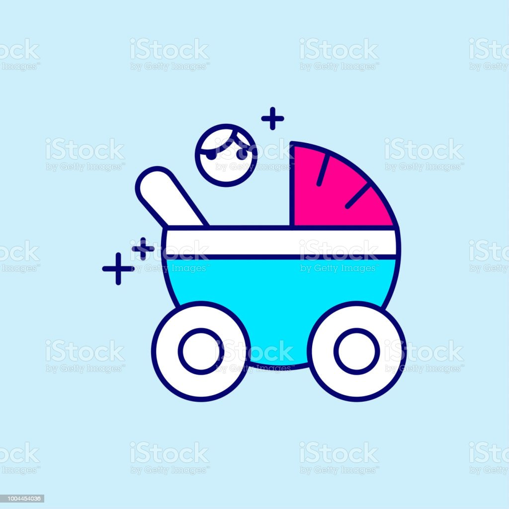 Mother's day blue and pink color icon on light blue background vector vector art illustration