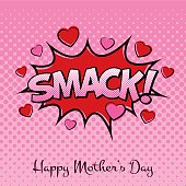 Mother's Day Card with Cartoon Sound Effects.