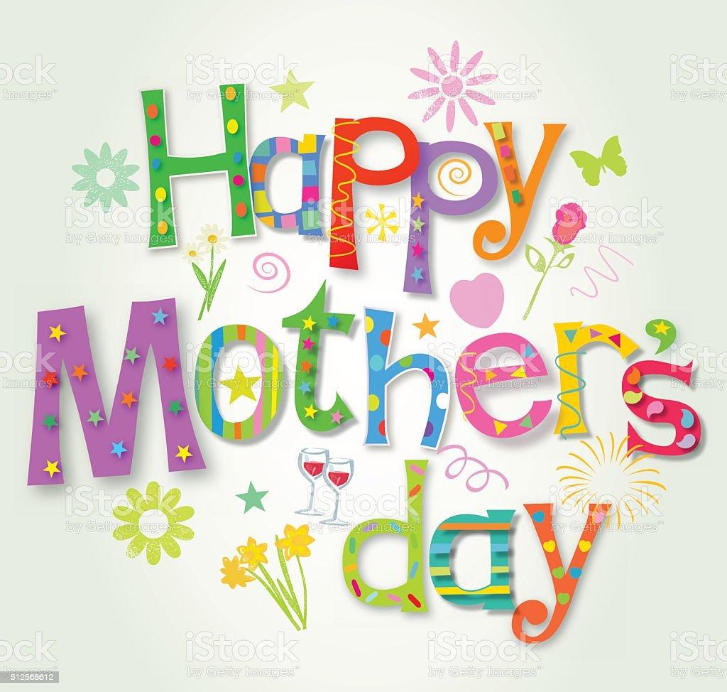 Mother's Day Card – Vektorgrafik