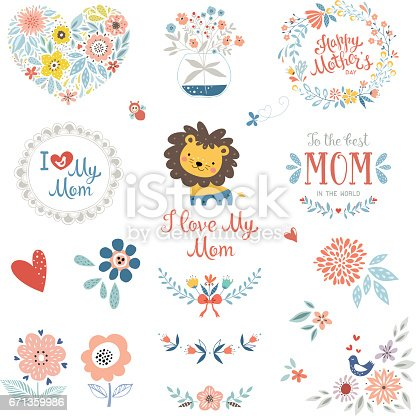 Mother's Day Floral Elements_10