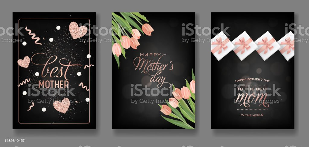 Marvelous Mothers Day Greeting Card Design Set Happy Mother Day Flyer With Birthday Cards Printable Opercafe Filternl