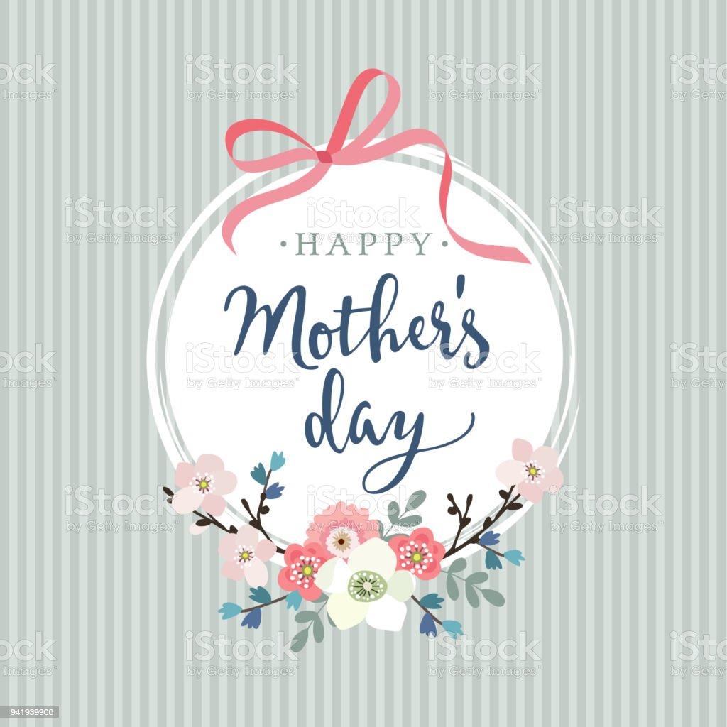 Ilustración De Tarjeta De Felicitación Día De Las Madres