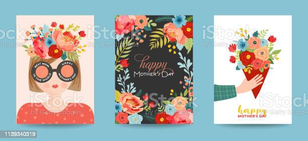 Mothers day greeting card set spring happy mother day holiday banner vector id1139340319?b=1&k=6&m=1139340319&s=612x612&h= gstudb2yspwflwjedhrxrhsuwmz3rkfs afpm3zv0s=
