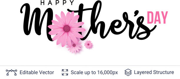 Modelo de cartão de dia das mães. - ilustração de arte em vetor