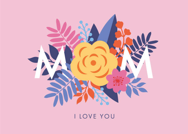 Mother's Day greeting card. vector art illustration