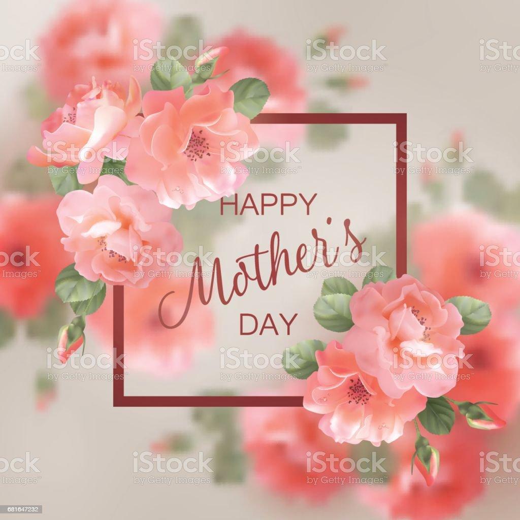 Tarjeta de felicitación día de la madre - ilustración de arte vectorial