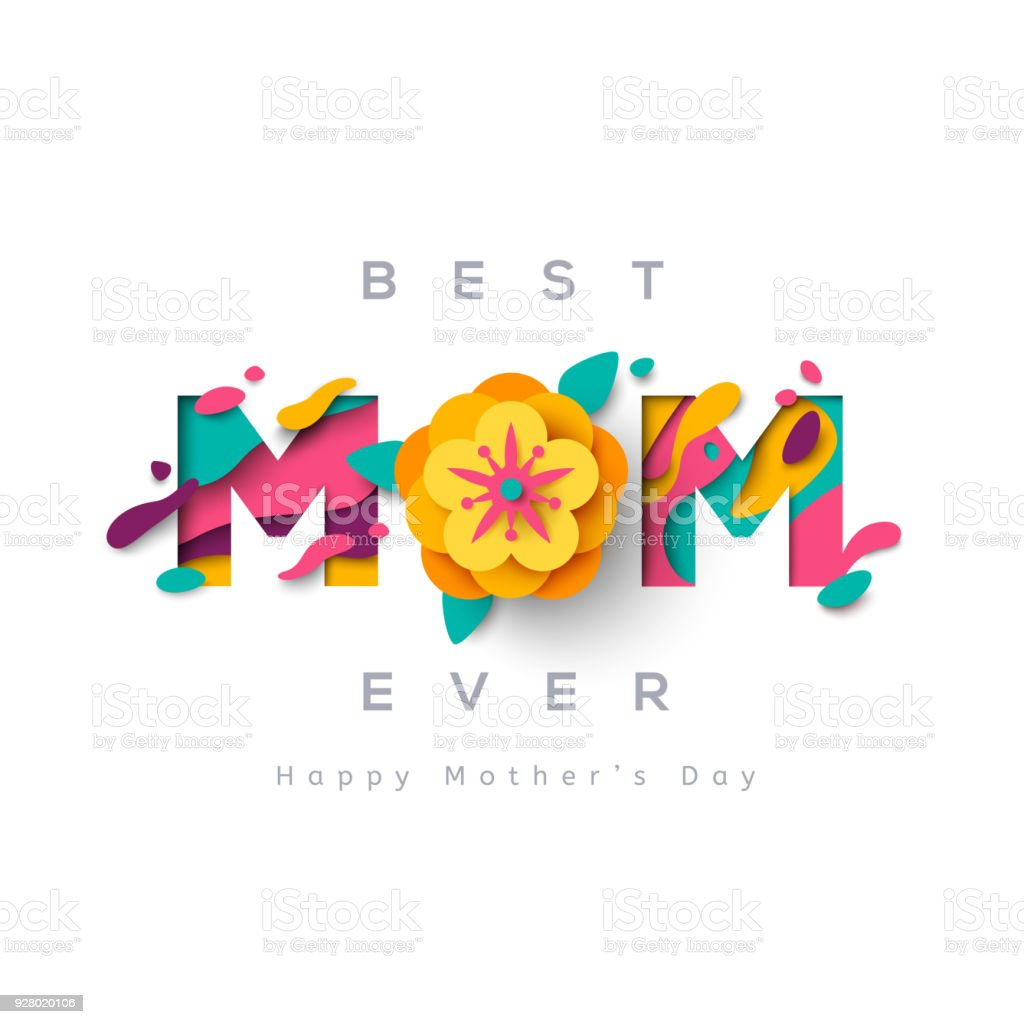 Mothers day greeting card vector art illustration