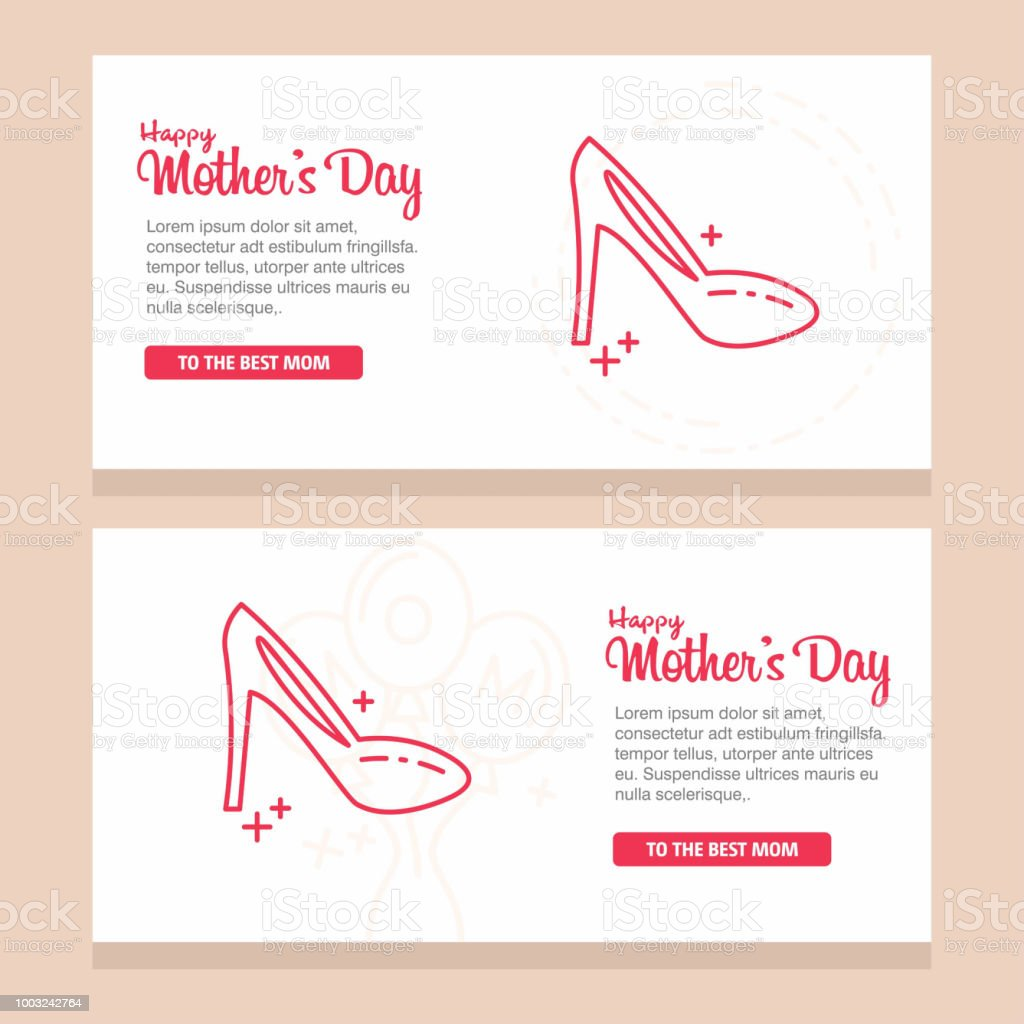 Mother's day greeting card with blossom flowers vector art illustration
