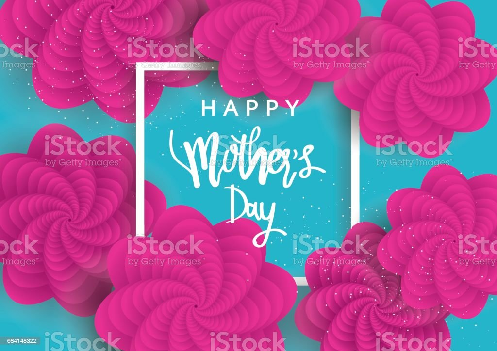 Mother's day greeting card with flowers background. Vector Illustration mothers day greeting card with flowers background vector illustration - immagini vettoriali stock e altre immagini di adulto royalty-free