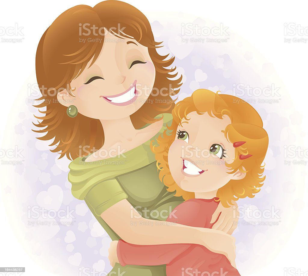 Mothers day greeting illustration. vector art illustration