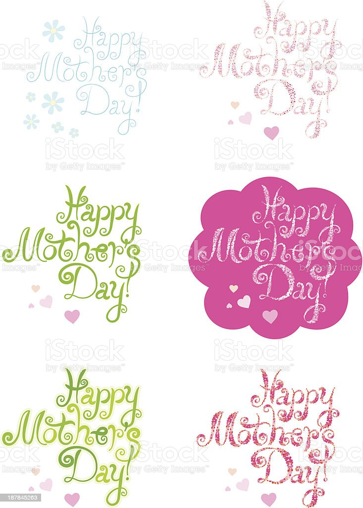 Mothers Day greetings set royalty-free mothers day greetings set stock vector art & more images of calligraphy