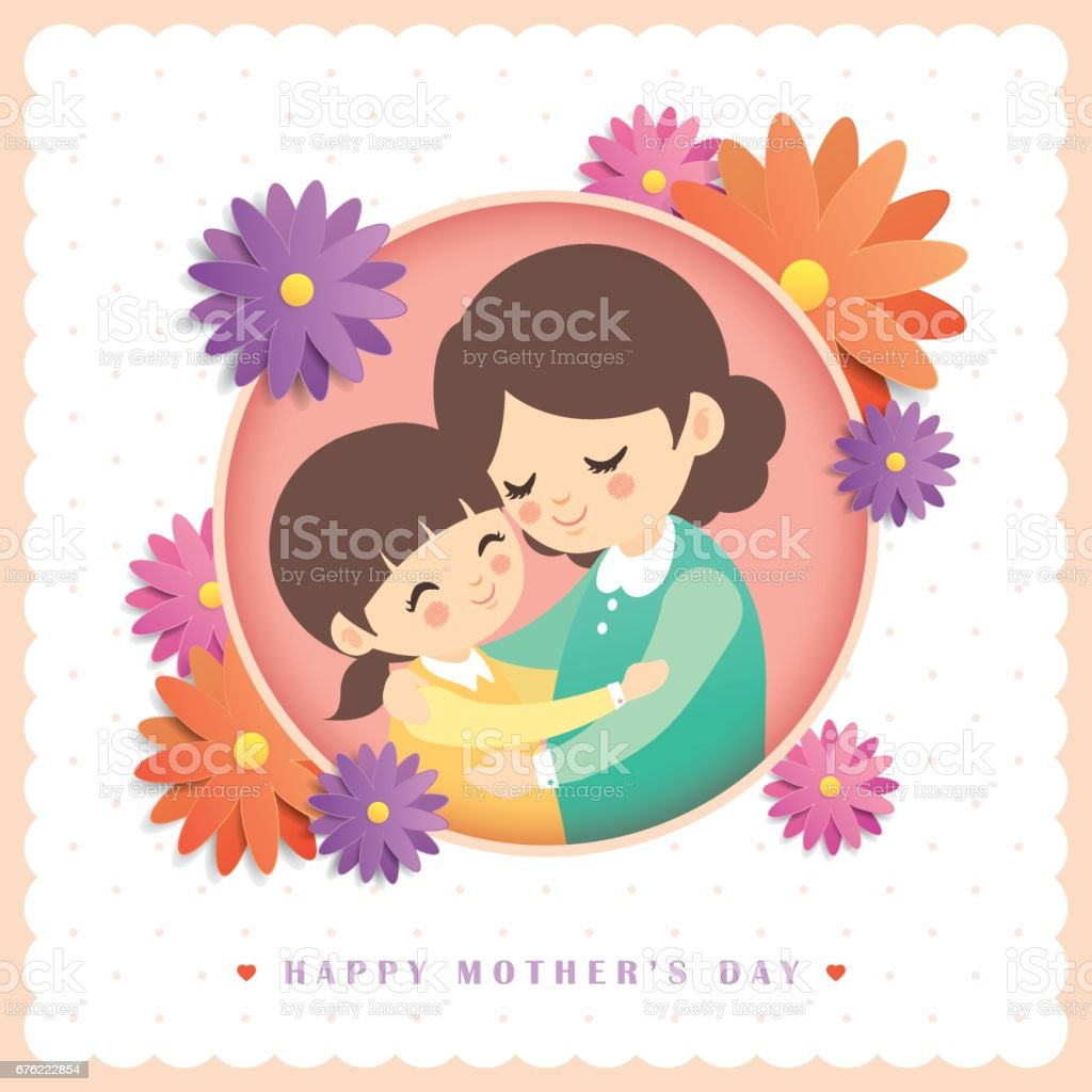 Mother's Day greetings template 1 vector art illustration