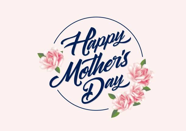 ilustraciones, imágenes clip art, dibujos animados e iconos de stock de plantilla de saludos del día de la madre - día de la madre