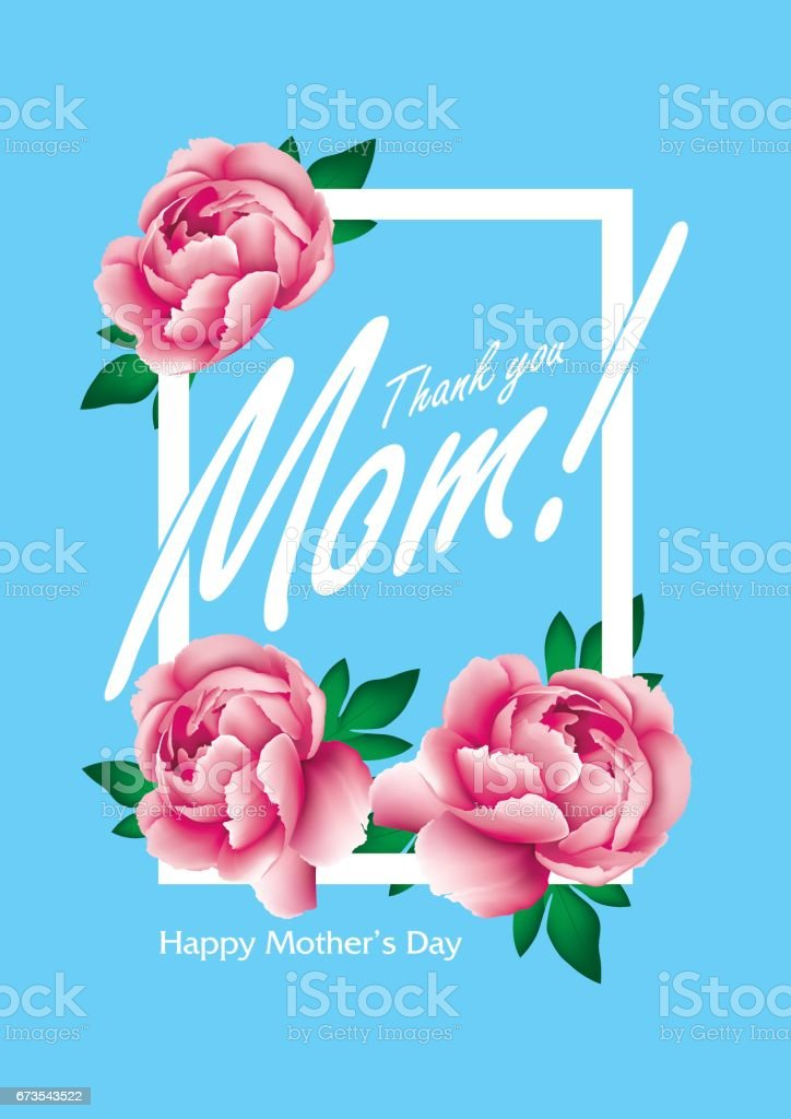 Mothers day greetings with thank you mom message stock vector art mothers day greetings with thank you mom message royalty free mothers m4hsunfo
