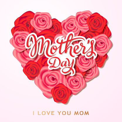 Mother's Day Heart Shape Roses