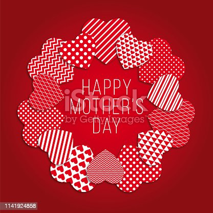 istock Mother's Day Heart Wreath. 1141924858