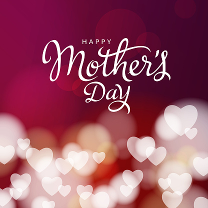 Mother's Day Hearts Background
