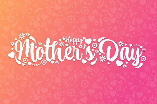 Mother's Day. Holiday concept. Template for background, banner, card, poster with text inscription. Vector EPS10 illustration.
