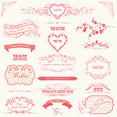 Mother's Day Labels, Banners & Calligraphic Frames