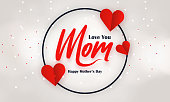 istock Mother's Day lettering frame on light background 1288608652
