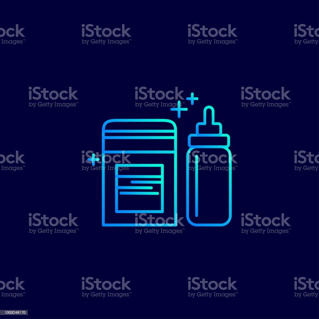 Mother's day light blue neon icon with dark background vector vector art illustration