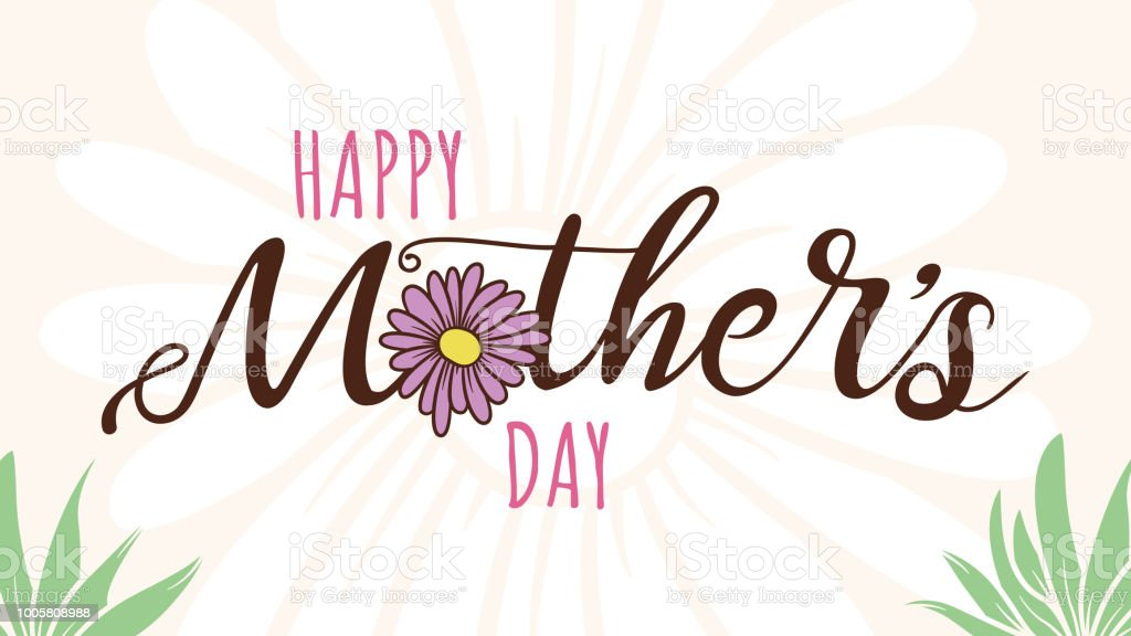 Mother's Day Message or Card vector art illustration