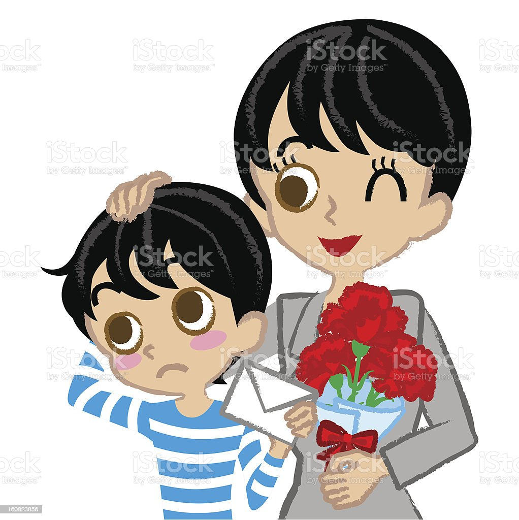 Mother's Day, Mother and son, Asian royalty-free mothers day mother and son asian stock vector art & more images of asian and indian ethnicities