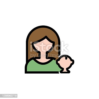 istock mothers day motherhood outline icon. Element of mothers day illustration icon. Signs and symbols can be used for web, logo, mobile app, UI, UX 1298963718