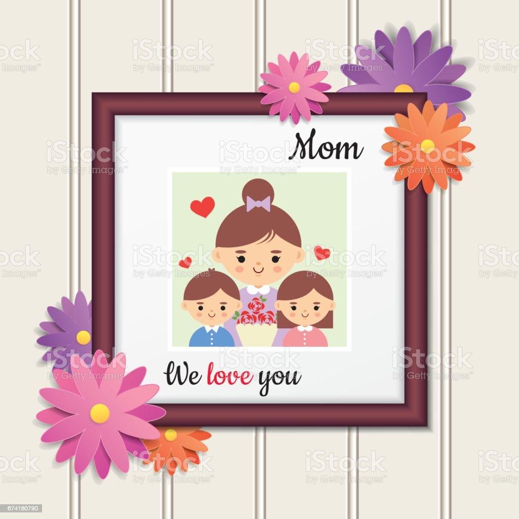 Muttertagfoto 2 Stock Vektor Art und mehr Bilder von ...