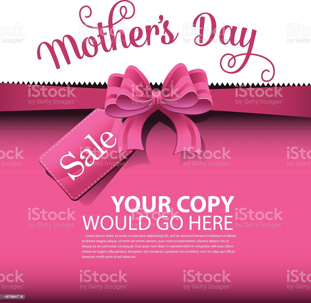 Mother's Day sale advertisement template vector art illustration