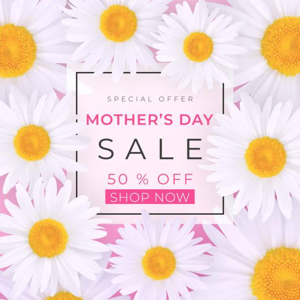 Mothers day sale background vector art illustration