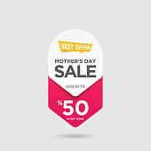 istock Mother's Day Sale banner stock illustration 1214966920