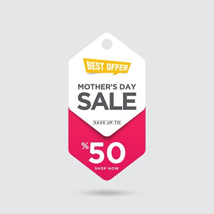 Mother's Day Sale banner stock illustration
