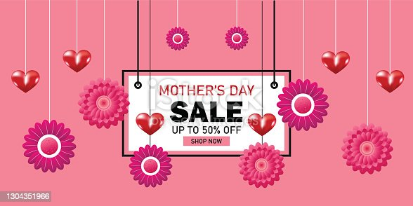 istock Mothers day sale banner template 1304351966