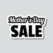 istock Mother's Day Sale. Icon sticker on gray background 1309789069